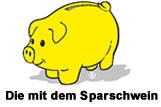 Die mit dem Sparschwein